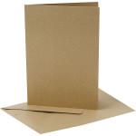 Perlemorskort, 10,5x15 cm, guld, 10 sæt