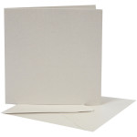 Perlemorskort, 12,5x12,5 cm, creme, 10 sæt