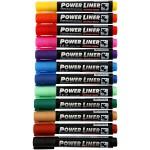 Power Liner, 1,5-3 mm streg, ass. farver, 12 ass.