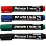 Power Liner, 1,5-3 mm streg, ass. farver, 4 ass.