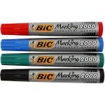 BIC marking 2000, 1,7 mm streg, ass. farver, 4 ass.