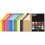 Color Bar papir, 21x30 cm, ass. farver, ensfarvet papir, 160 ass. ark