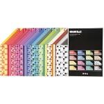 Color Bar papir, 21x30 cm, ass. farver, mønstret papir, 160 ass. ark