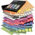 Color Bar karton, 21x30 cm, ass. farver, mønstret karton, 160 ass. ark