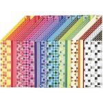 Color Bar papir, 21x30 cm, mønstret papir, 16 ass. ark