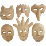Dekorationsmasker, 12-21 cm, 6 ass.