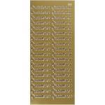 Hobbystickers, 10x23 cm, guld, Gratulerer, 5 ark