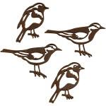 Silhuet fugle, 100 ass. 50x25 + 40x20  mm.