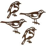 Silhuet fugle, 10 ass. 50x25 + 40x20  mm,
