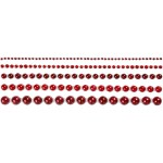 Halv-perler, 2-8 mm, rød, Copenhagen, 140 ass.