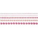 Halv-perler, 2-8 mm, pink, Skagen, 140 ass.