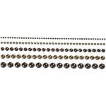 Halv-perler, 2-8 mm, brun, Oslo, 140 ass.