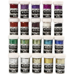 Glitter - sortiment, 20x20 g