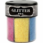 Glitter - sortiment, 6x13 g