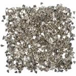 Glitter, 1-3 mm, sølv, 30 g