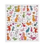 Fancy stickers, 15x16,5 cm, Katte, 1 ark