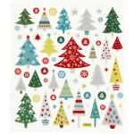 Fancy Glitterstickers, 15x16,5 cm, juletræ, 1 ark