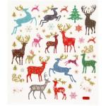 Fancy Glitterstickers, 15x16,5 cm, rensdyr, 1 ark