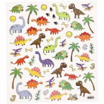 Fancy stickers, 15x16,5 cm, dinosaurus, 1 ark