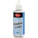 Viva Decor Window Color - metallic, sølv, 80 ml