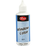 Viva Decor Window Color, sølv glitter, 80 ml