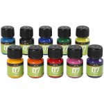 A-Color Glass, ass. farver, 10x30ml