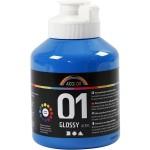 A-Color akrylmaling, primær blå, 01 - blank, 500 ml