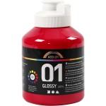 A-Color akrylmaling, primær rød, 01 - blank, 500 ml