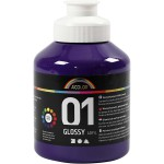 A-Color akrylmaling, violet, 01 - blank, 500 ml