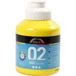 A-Color akrylmaling, primær gul, 02 - mat (plakatfarve), 500 ml