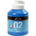 A-Color akrylmaling, primær blå, 02 - mat (plakatfarve), 500 ml