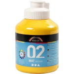 A-Color akrylmaling, gul, 02 - mat (plakatfarve), 500 ml