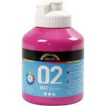 A-Color akrylmaling, pink, 02 - mat (plakatfarve), 500 ml
