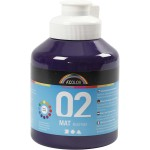 A-Color akrylmaling, violet, 02 - mat (plakatfarve), 500 ml