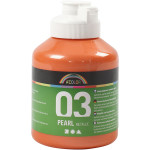 A-Color akrylmaling, orange, 03 - metallic, 500 ml