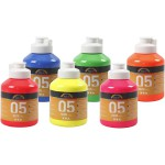 A-Color akrylmaling, neonfarver, 05 - neon, 6x500 ml