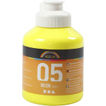 A-Color akrylmaling, neon gul, 05 - neon, 500 ml