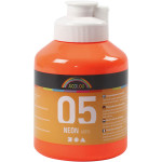 A-Color akrylmaling, neon orange, 05 - neon, 500 ml
