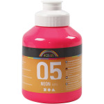 A-Color akrylmaling, neon pink, 05 - neon, 500 ml