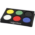 Vandfarve i palet, 44 mm, primær farver, 6 ass.