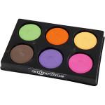 Vandfarve i palet, 44 mm, supp. farver, 6 ass.