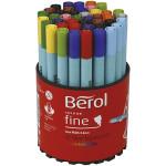 Berol Colourfine, 0,6 mm streg, 42 ass.