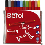 Berol Colourbroad, 1,7 mm streg, 12 ass.