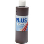 Plus Color hobbymaling, mørkebrun, 250 ml
