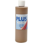 Plus Color hobbymaling, lysebrun, 250 ml