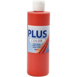Plus Color hobbymaling, brilliant rød, 250 ml
