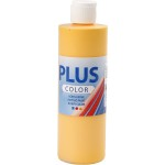 Plus Color hobbymaling, solgul, 250 ml