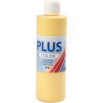 Plus Color hobbymaling, mørkegul, 250 ml