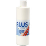 Plus Color hobbymaling, råhvid, 250 ml