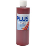 Plus Color hobbymaling, mørkerød, 250 ml